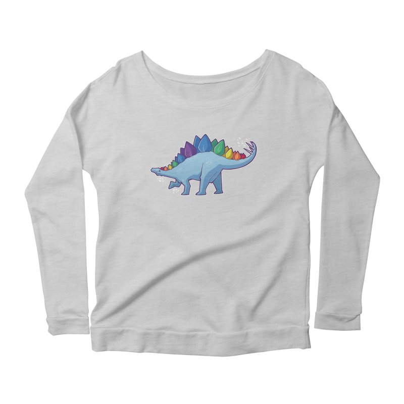 Stegosaurus Pride Women's Longsleeve T-Shirt by Marty's Artist Shop