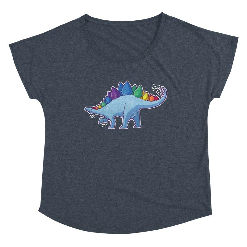 Stegosaurus Pride Women's Scoop Neck by Marty's Artist Shop