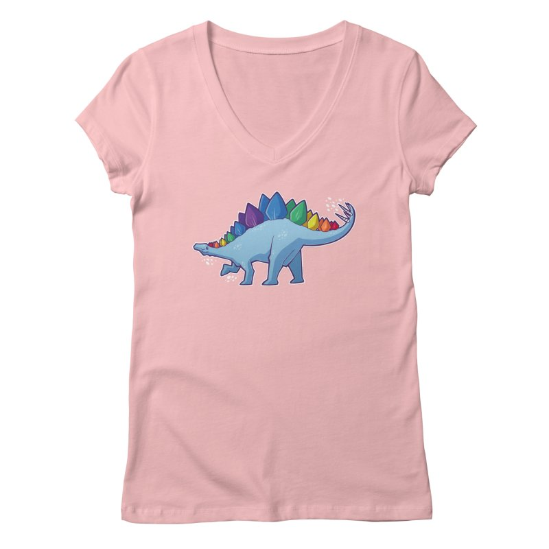 Stegosaurus Pride Women's V-Neck by Marty's Artist Shop