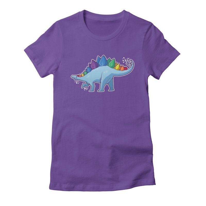 Stegosaurus Pride Women's Fitted T-Shirt by Marty's Artist Shop