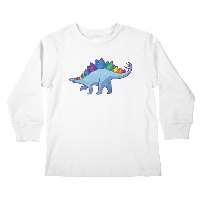 Stegosaurus Pride Kids Longsleeve T-Shirt by Marty's Artist Shop