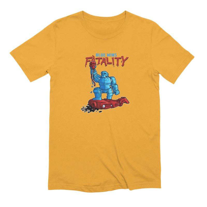 Rock 'Em Sock 'Em Finish 'Em! Men's Extra Soft T-Shirt by Marty's Artist Shop
