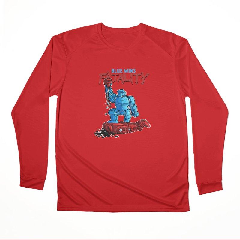 Rock 'Em Sock 'Em Finish 'Em! Men's Performance Longsleeve T-Shirt by Marty's Artist Shop