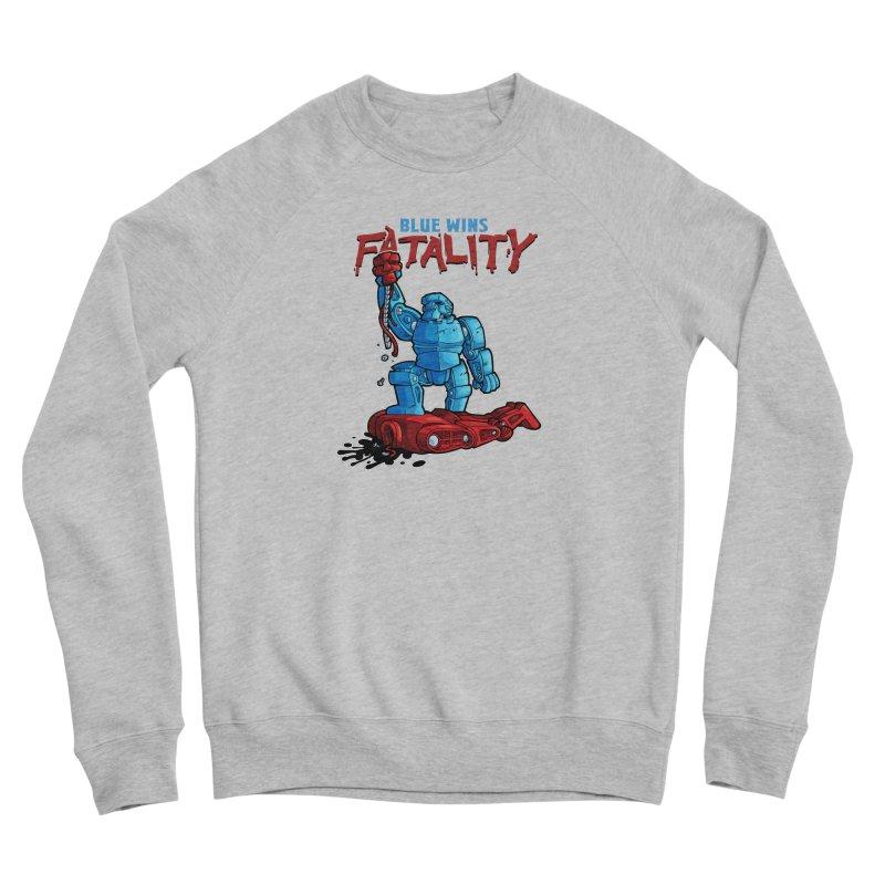 Rock 'Em Sock 'Em Finish 'Em! Men's Sponge Fleece Sweatshirt by Marty's Artist Shop