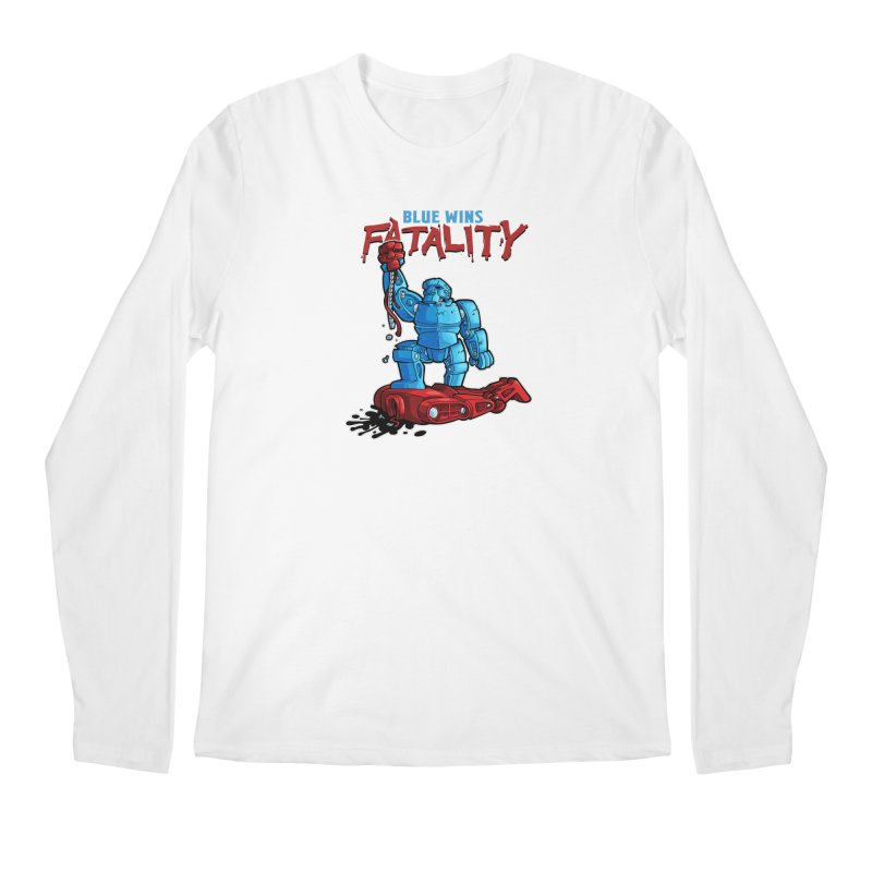 Rock 'Em Sock 'Em Finish 'Em! Men's Regular Longsleeve T-Shirt by Marty's Artist Shop