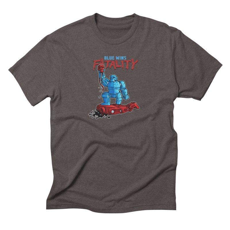Rock 'Em Sock 'Em Finish 'Em! Men's Triblend T-Shirt by Marty's Artist Shop
