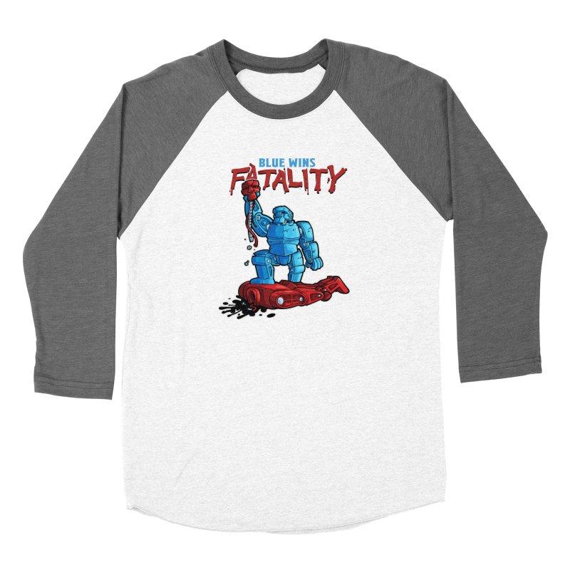 Rock 'Em Sock 'Em Finish 'Em! Men's Baseball Triblend Longsleeve T-Shirt by Marty's Artist Shop