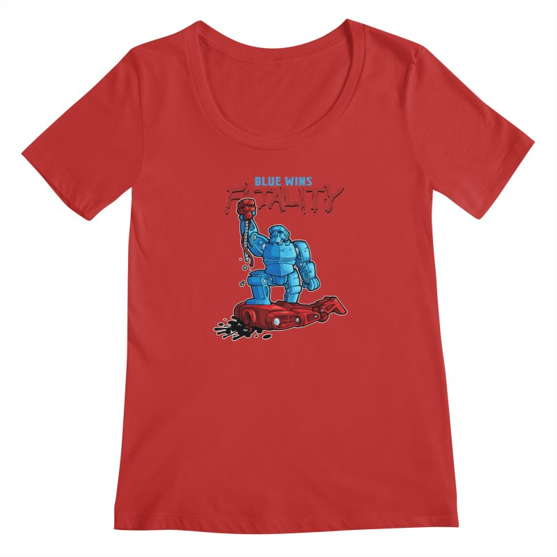 Rock 'Em Sock 'Em Finish 'Em! Women's Regular Scoop Neck by Marty's Artist Shop