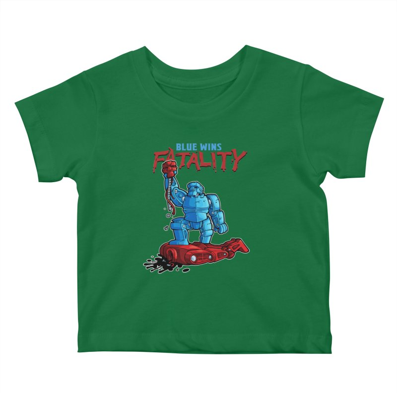 Rock 'Em Sock 'Em Finish 'Em! Kids Baby T-Shirt by Marty's Artist Shop