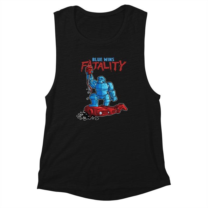 Rock 'Em Sock 'Em Finish 'Em! Women's Muscle Tank by Marty's Artist Shop