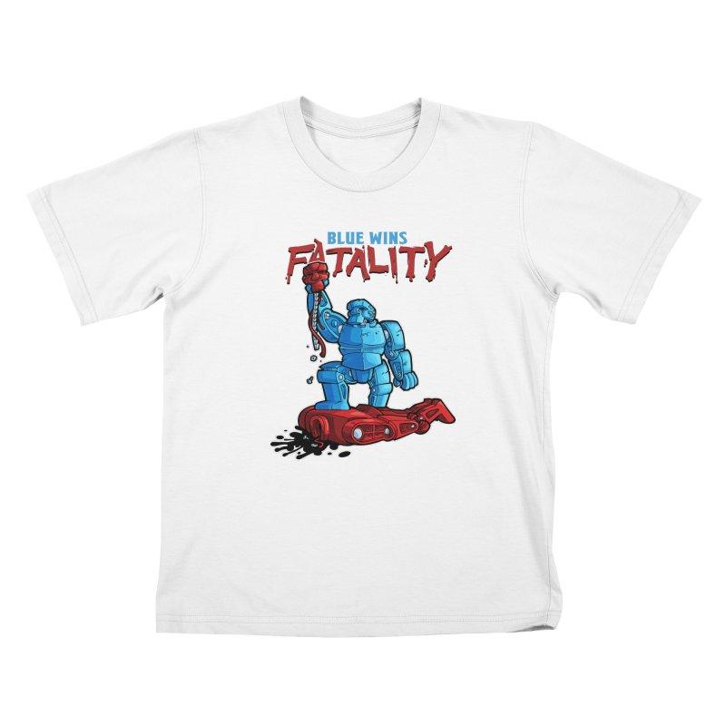Rock 'Em Sock 'Em Finish 'Em! Kids T-Shirt by Marty's Artist Shop