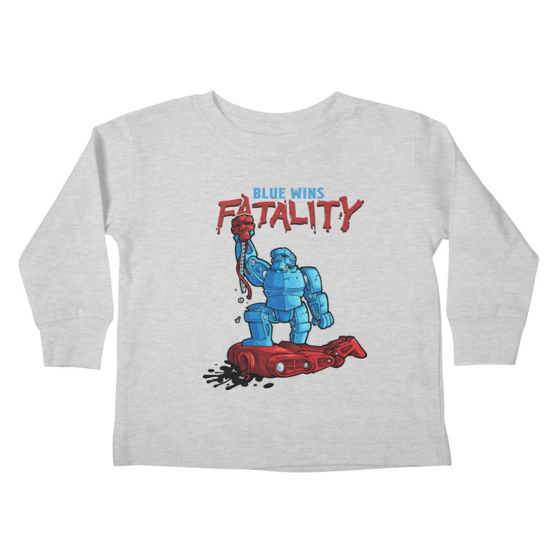 Rock 'Em Sock 'Em Finish 'Em! Kids Toddler Longsleeve T-Shirt by Marty's Artist Shop