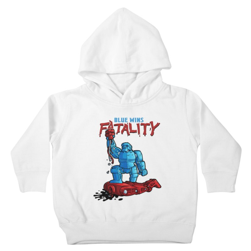 Rock 'Em Sock 'Em Finish 'Em! Kids Toddler Pullover Hoody by Marty's Artist Shop