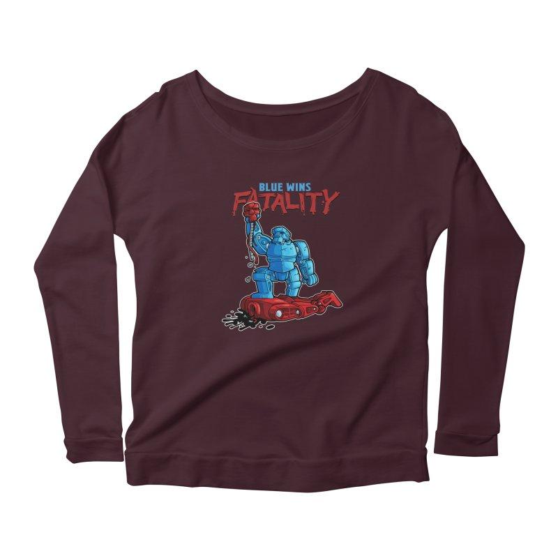 Rock 'Em Sock 'Em Finish 'Em! Women's Scoop Neck Longsleeve T-Shirt by Marty's Artist Shop