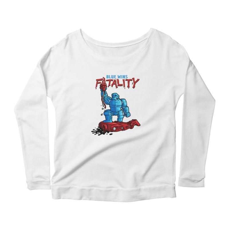Rock 'Em Sock 'Em Finish 'Em! Women's Scoop Neck Longsleeve T-Shirt by Marty's Artist Shop