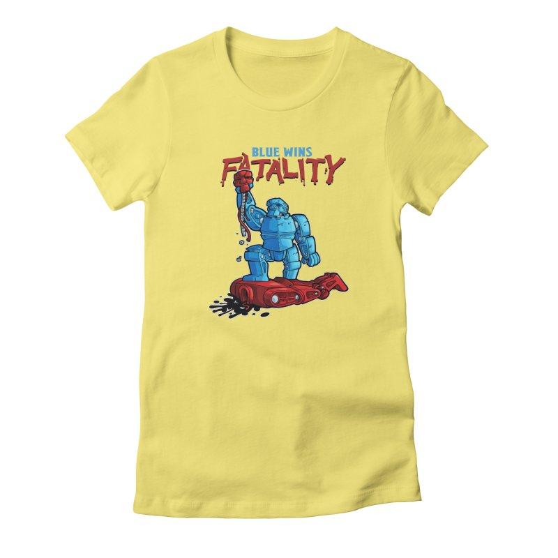 Rock 'Em Sock 'Em Finish 'Em! Women's Fitted T-Shirt by Marty's Artist Shop