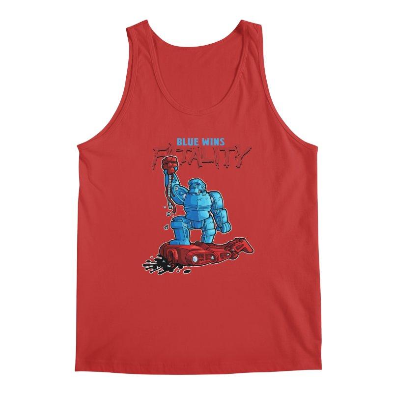 Rock 'Em Sock 'Em Finish 'Em! Men's Regular Tank by Marty's Artist Shop