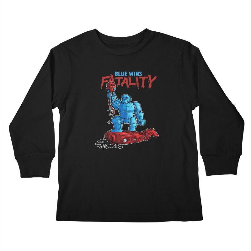 Rock 'Em Sock 'Em Finish 'Em! Kids Longsleeve T-Shirt by Marty's Artist Shop