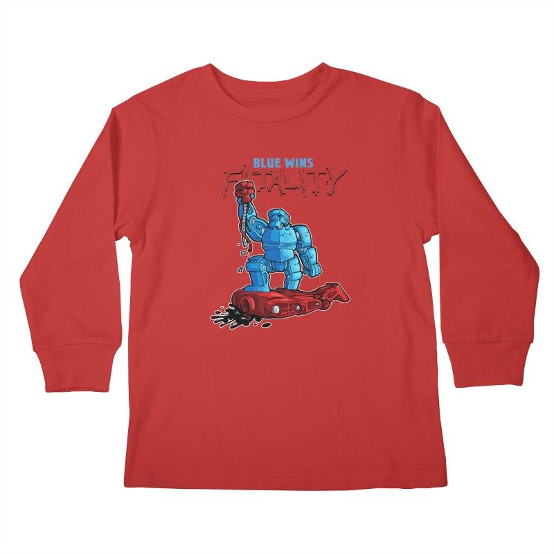 Rock 'Em Sock 'Em Finish 'Em! Kids Longsleeve T-Shirt by Marty's Artist Shop