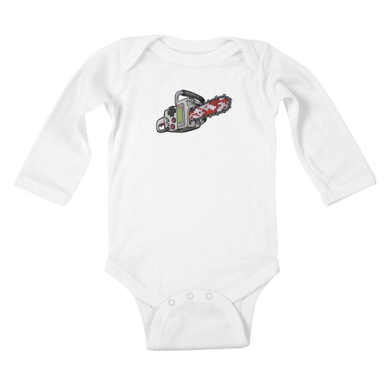 Button Masher Kids Baby Longsleeve Bodysuit by Marty's Artist Shop