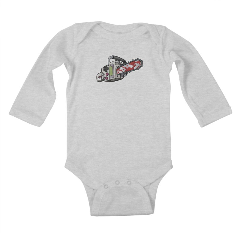 Button Masher Kids Baby Longsleeve Bodysuit by Marty's Artist Shop