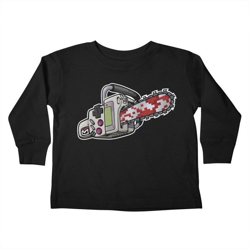 Button Masher Kids Toddler Longsleeve T-Shirt by Marty's Artist Shop