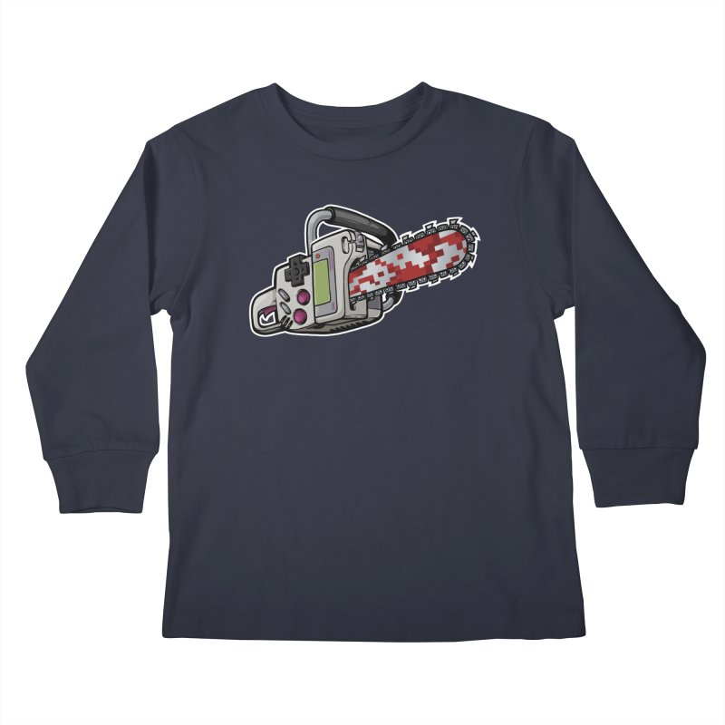 Button Masher Kids Longsleeve T-Shirt by Marty's Artist Shop