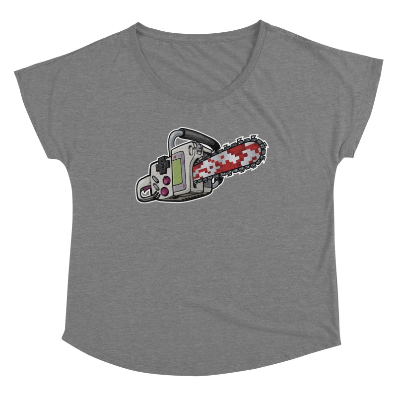 Button Masher Women's Scoop Neck by Marty's Artist Shop