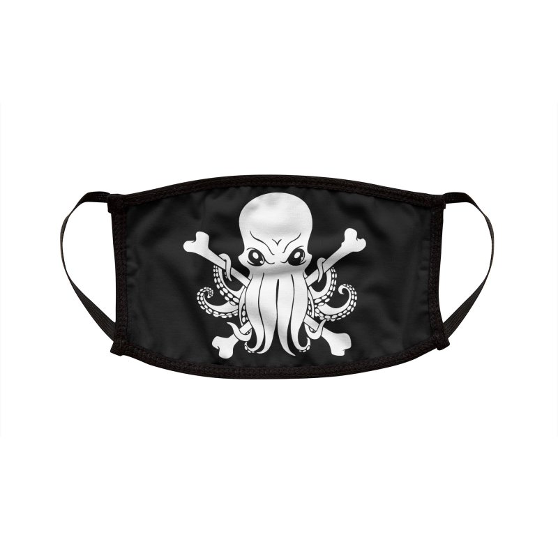 The Jolly Cthulhu Accessories Face Mask by Marty's Artist Shop