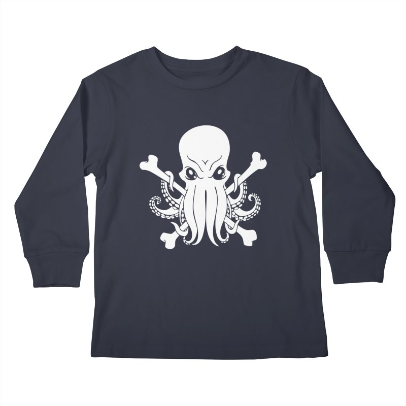 The Jolly Cthulhu Kids Longsleeve T-Shirt by Marty's Artist Shop