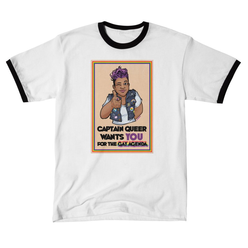 CAPTAIN QUEER WANTS YOU Women's T-Shirt by Marty's Artist Shop