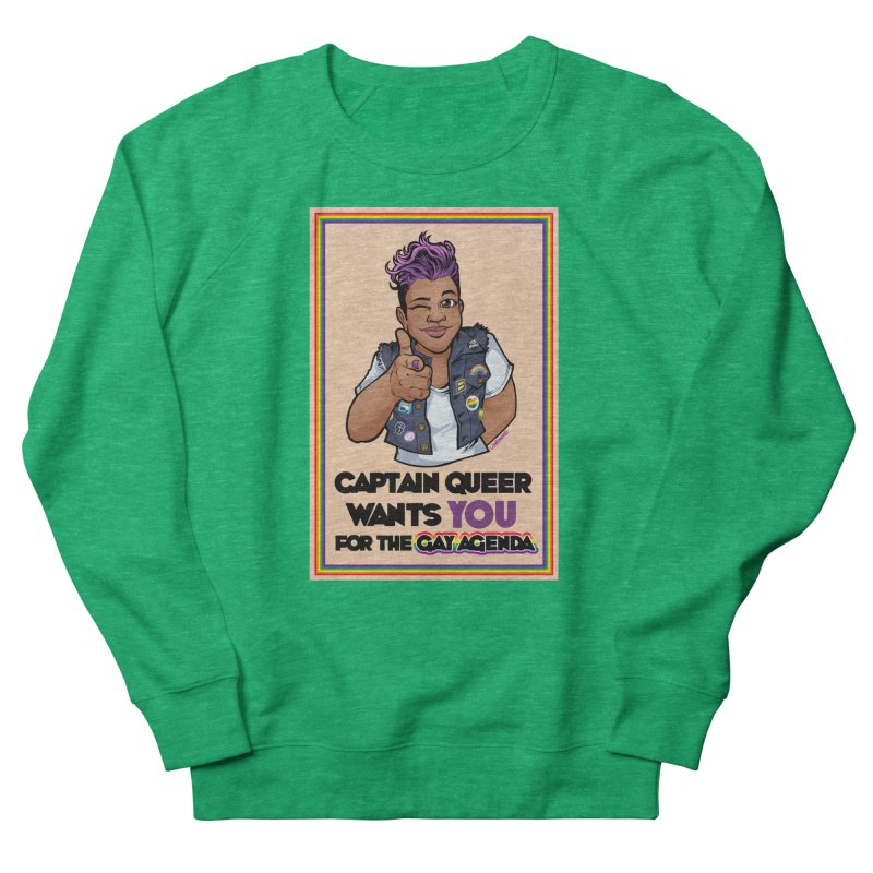 CAPTAIN QUEER WANTS YOU Women's Sweatshirt by Marty's Artist Shop