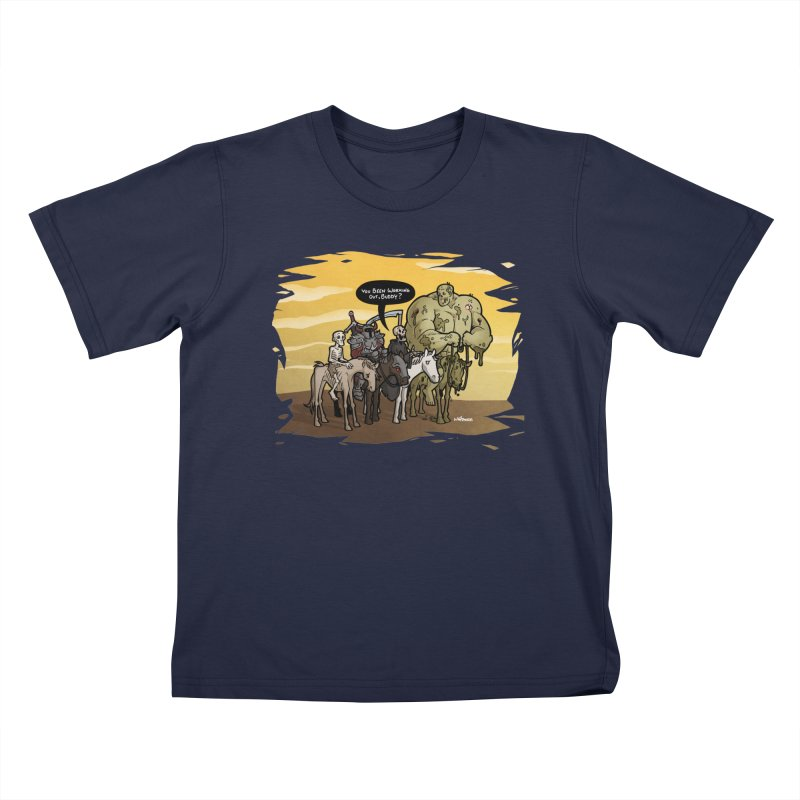 peSWOLence Kids T-Shirt by Marty's Artist Shop