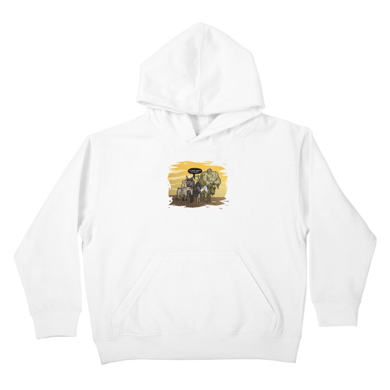 peSWOLence Kids Pullover Hoody by Marty's Artist Shop