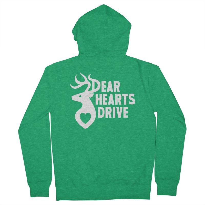 Dear Hearts Drive Men's Zip-Up Hoody by Marty's Artist Shop