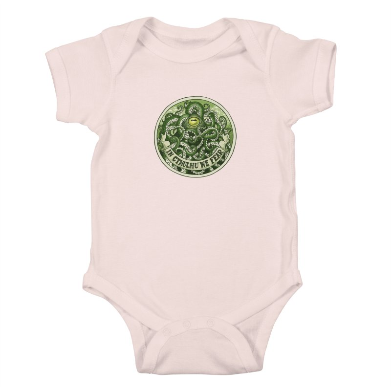 In Cthulhu We Fear Kids Baby Bodysuit by Marty's Artist Shop
