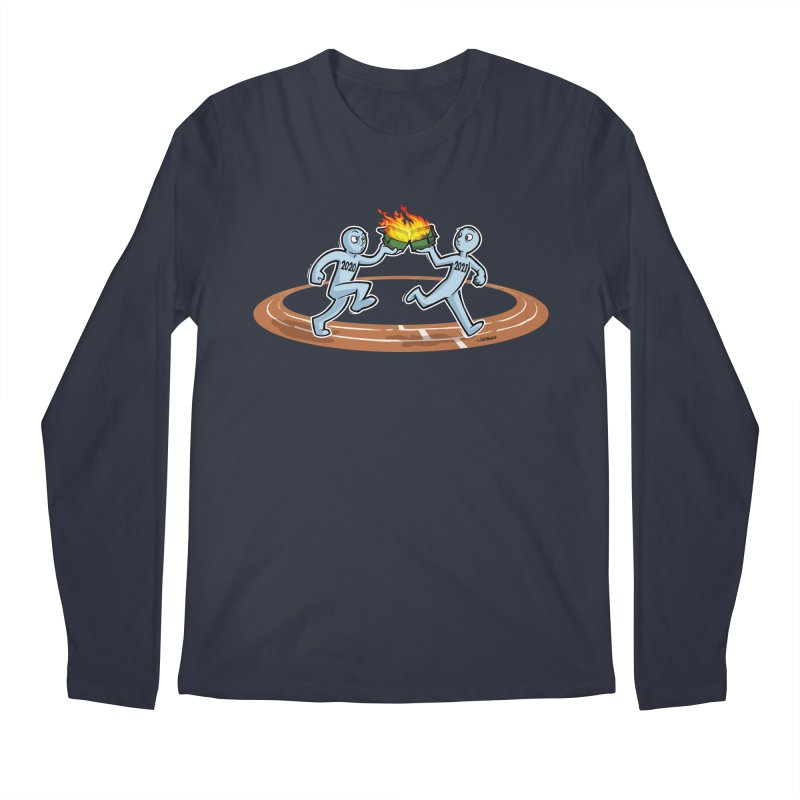 Dumpster Fire Relay Men's Longsleeve T-Shirt by Marty's Artist Shop