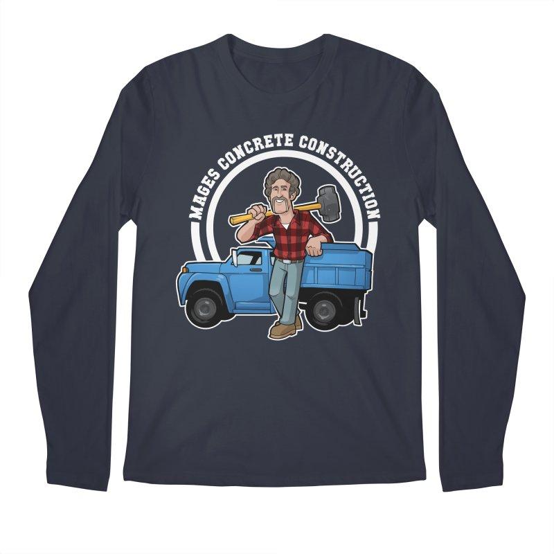the Big Blue Truck Men's Longsleeve T-Shirt by Marty's Artist Shop