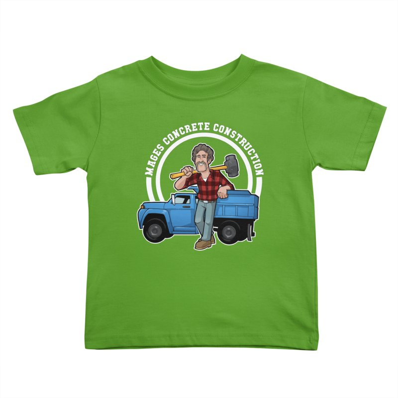 the Big Blue Truck Kids Toddler T-Shirt by Marty's Artist Shop