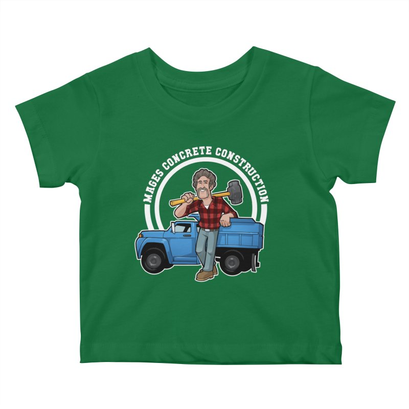 the Big Blue Truck Kids Baby T-Shirt by Marty's Artist Shop