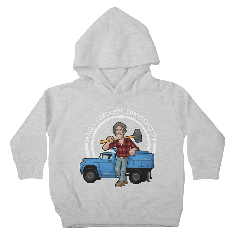 the Big Blue Truck Kids Toddler Pullover Hoody by Marty's Artist Shop
