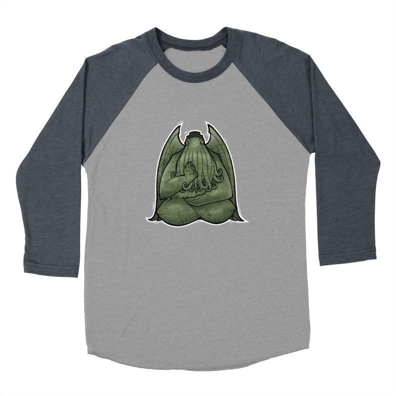 Koan of Cthulhu Men's Baseball Triblend Longsleeve T-Shirt by Marty's Artist Shop