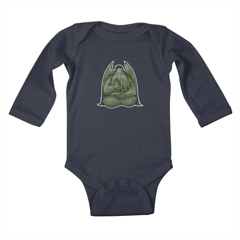 Koan of Cthulhu Kids Baby Longsleeve Bodysuit by Marty's Artist Shop