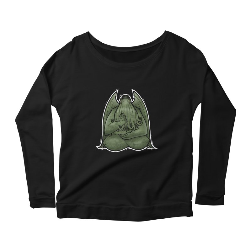 Koan of Cthulhu Women's Longsleeve Scoopneck  by Marty's Artist Shop