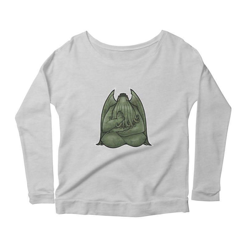 Koan of Cthulhu Women's Scoop Neck Longsleeve T-Shirt by Marty's Artist Shop