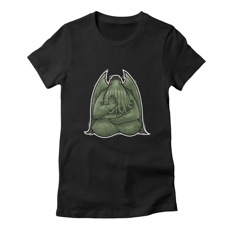 Koan of Cthulhu Women's Fitted T-Shirt by Marty's Artist Shop