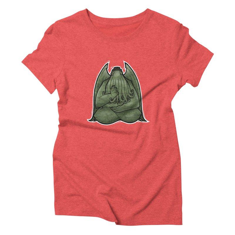 Koan of Cthulhu Women's Triblend T-Shirt by Marty's Artist Shop