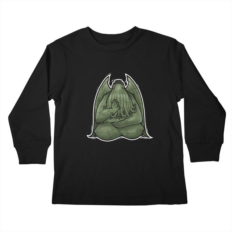 Koan of Cthulhu Kids Longsleeve T-Shirt by Marty's Artist Shop