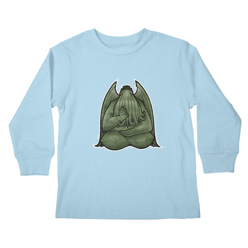 Koan of Cthulhu Kids Longsleeve T-Shirt by Marty's Artist Shop