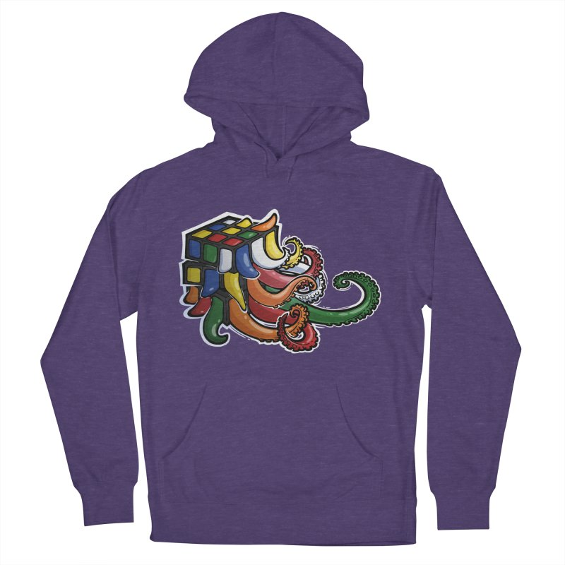 Rubik's Horror Men's French Terry Pullover Hoody by Marty's Artist Shop